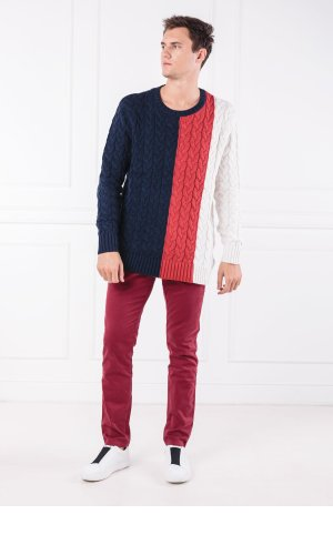 Tommy Jeans Sweter TJM COLORBLOCK CABLE | Regular Fit