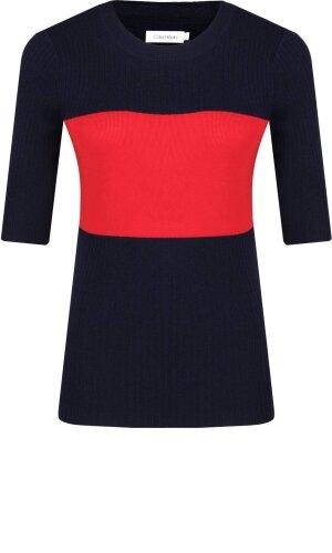 Calvin Klein Wełniana bluzka STP RIB | Slim Fit