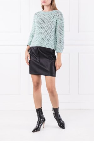 Elisabetta Franchi Wełniany sweter | Regular Fit