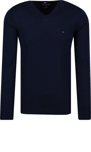 Tommy Hilfiger Tailored Wełniany sweter LUXURY WOOL VNECK FO | Regular Fit