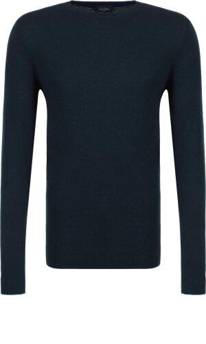 Calvin Klein Sweter Saul | Fitted fit | z dodatkiem jedwabiu