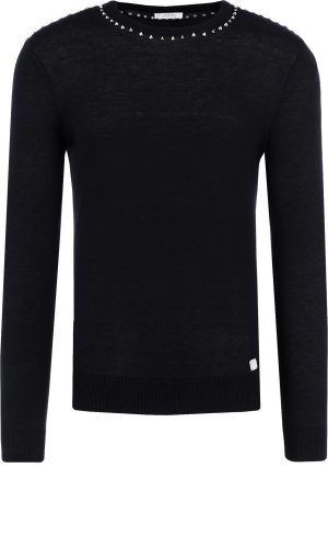 Versace Collection Sweter   Slim Fit   z dodatkiem wełny