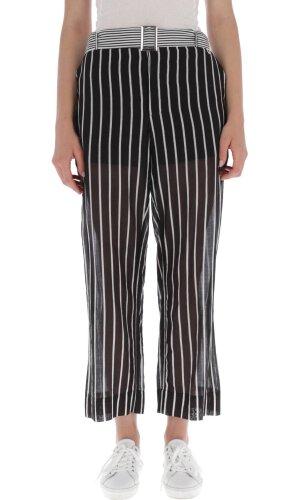 Twinset Spodnie | Regular Fit | z dodatkiem jedwabiu