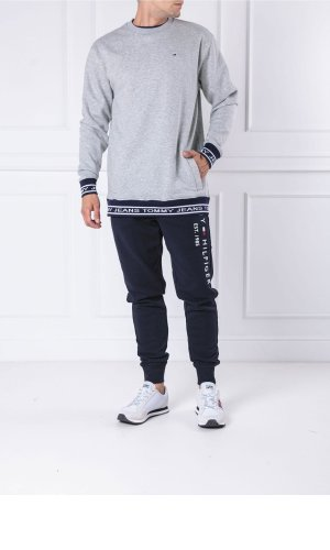 Tommy Jeans Bluza TJM RIB LOGO CREW | Relaxed fit