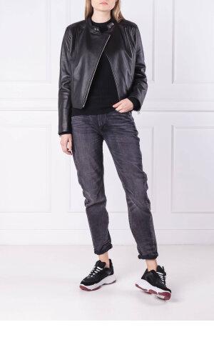 Calvin Klein Skórzana ramoneska | Regular Fit