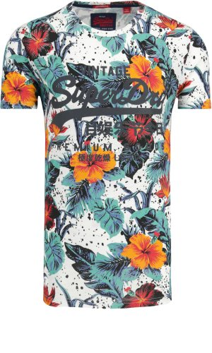 Superdry T-shirt Premium Goods Hibiscuc | Regular Fit