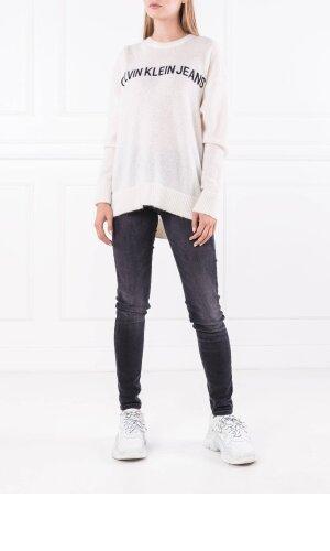 Calvin Klein Jeans Sweter ALPACA BLEND LOGO CR | Loose fit | z dodatkiem wełny