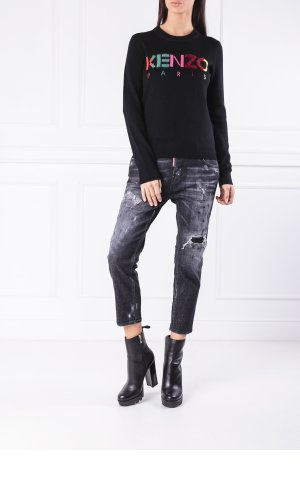 Kenzo Wełniany sweter classique   Regular Fit