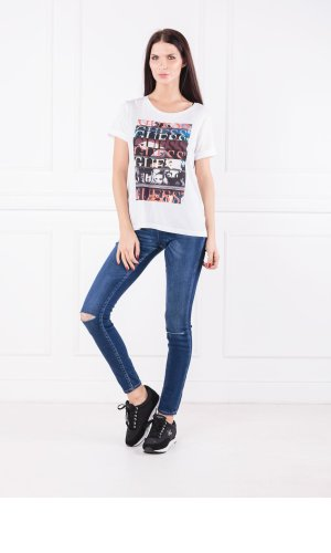 Guess Jeans T-shirt SS CN TITLES TEE | Regular Fit