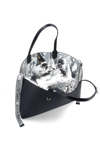 fefafc39a Reversible shopper bag ICONIC TOMMY TOTE MT Tommy Hilfiger | Silver ...