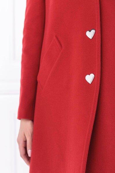 love moschino plaszcz welniany plaszcz klasyczny red w