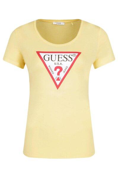 6412684b2cc5 T-shirt SS RN ORIGINAL | Regular Fit Guess Jeans | Yellow | Gomez.pl/en