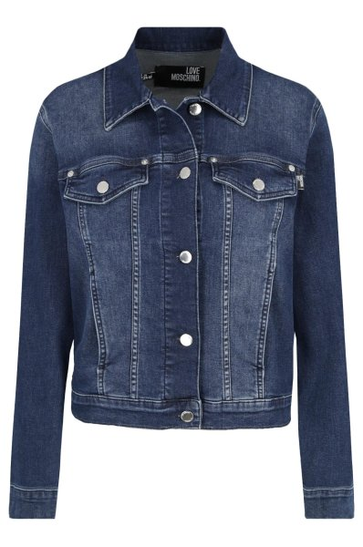 Kurtka jeansowa | Regular Fit Love Moschino | Granatowy