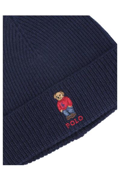 Czapka POLOBEAR | z dodatkiem wełny Polo Ralph Lauren granatowy