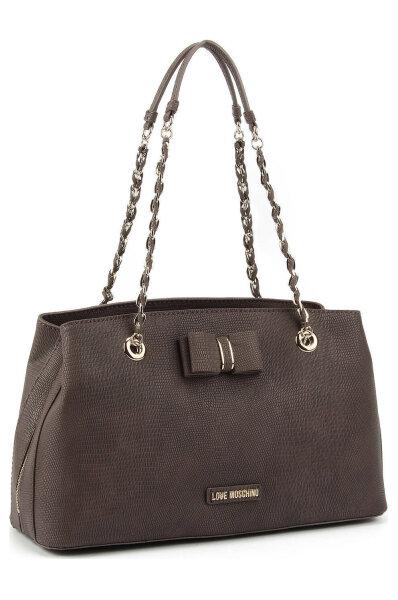 67e550a08 I Love Bow Shopper bag Love Moschino | Gray | Gomez.pl/en