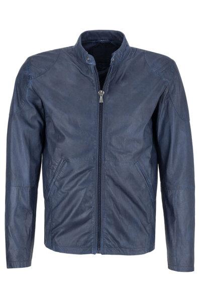 d624b8a2d Leather jacket Trussardi Jeans   Navy blue   Gomez.pl/en