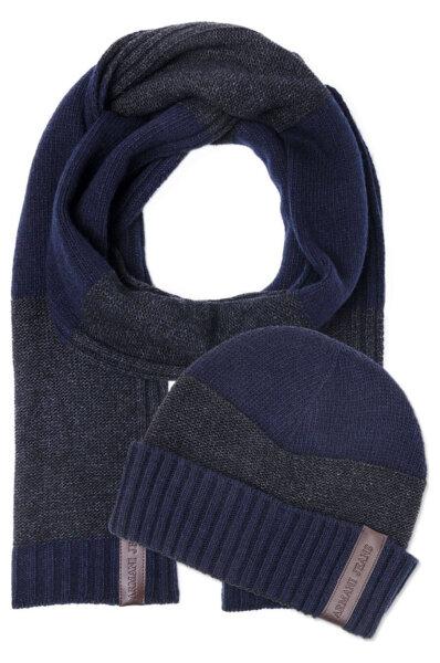 f601deca5b0 Beanie + Scarf Armani Jeans navy blue. 06807 F1