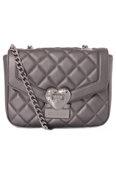 90c7659ea3 Heart Quilted Messenger Bag Love Moschino   Silver   Gomez.pl/en