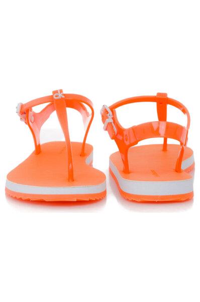 9544e459d57b6 Sandały Savanna Jelly Calvin Klein Jeans | Pomarańczowy | Gomez.pl