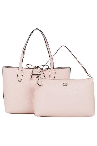 5e335bffec75 Bobbi Reversible Shopper Bag Guess powder pink. HWVG64 22150