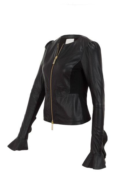 outlet store a9c6c fb0a8 Capitre Leather Jacket Pinko | Black | Gomez.pl/en