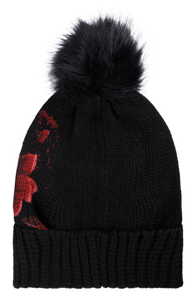 Hat Red Flowers Desigual black 4a61a051014