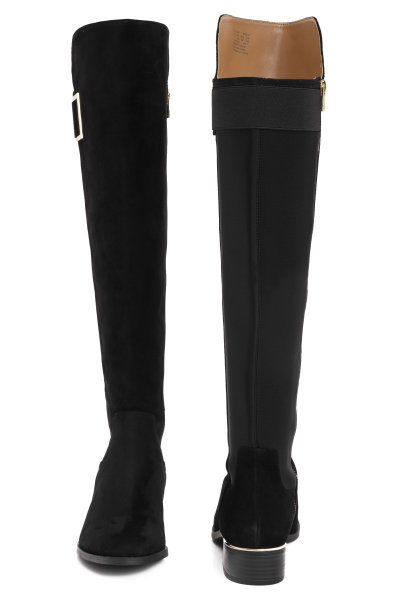 b1a5a297031 Thigh high boots Cylan Calvin Klein black