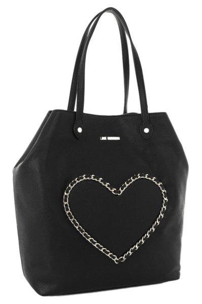 c9fee3c543d Chain Heart Shopper bag Love Moschino