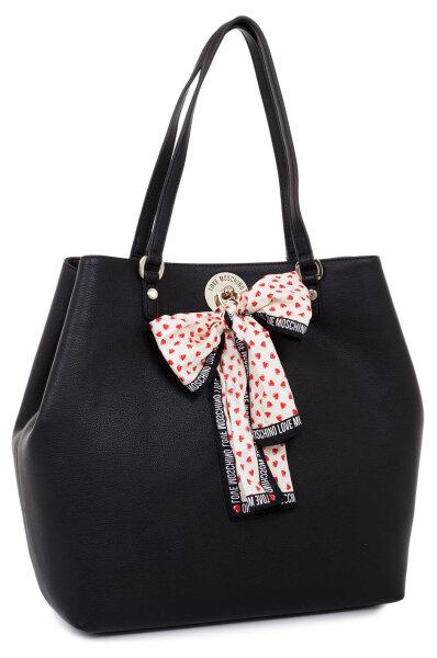 276cc7d4559 I Love Scarf Shopper bag Love Moschino | Black | Gomez.pl/en