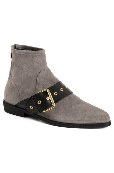 e429966c8e365 Ankle boots Gigi Hadid Flat Boot Tommy Hilfiger gray. FW0FW02202
