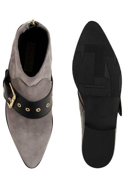 88489274b1f59 Ankle boots Gigi Hadid Flat Boot Tommy Hilfiger gray