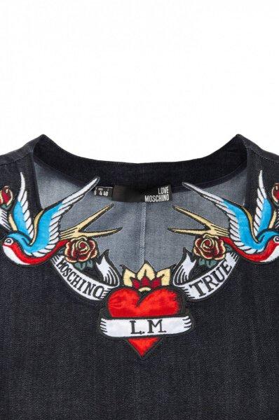 Sukienka Love Moschino granatowy