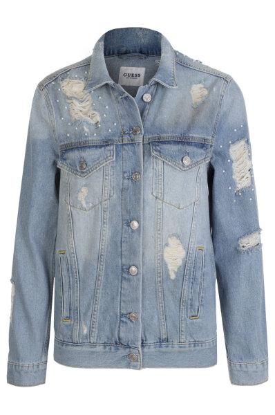 4485e77276edd Kurtka jeansowa Ellie Guess Jeans błękitny. W81N02 D2ZQ1
