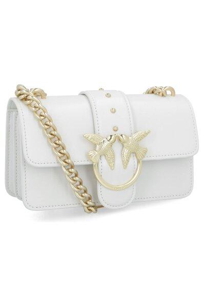 b723ca37654 Leather messenger bag MINI LOVE SIMPLY 2 Pinko | White | Gomez.pl/en