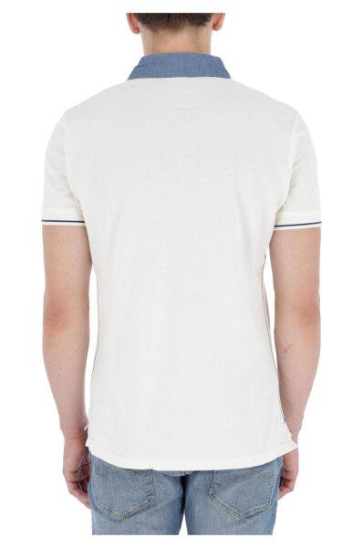 Polo MORRIS | Slim Fit | pique Pepe Jeans London biały