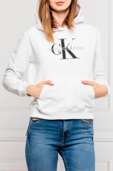 Sweatshirt MONOGRAM | Relaxed fit Calvin Klein Jeans | White