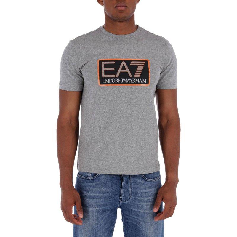 T-shirt   Regular Fit EA7 popielaty