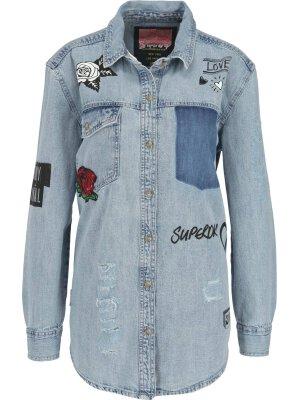 Superdry Shirt OVERSIZED | denim