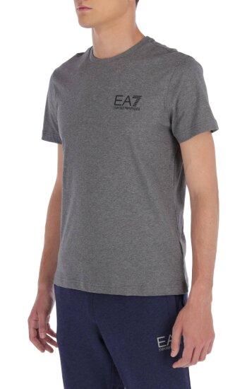 T-shirt | Regular Fit EA7 szary