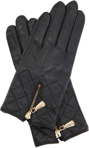 Guess Skórzane rękawiczki