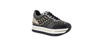 Sneakersy GUESS Hamptyn FL5HAM ELE12 BLACK Sneakersy