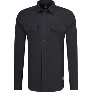 cb1945603 Shirt WESTERN STRETCH TWILL   Slim Fit Calvin Klein Jeans   Black ...