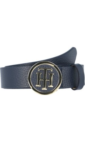 Tommy Hilfiger Skórzany pasek TH Round Buckle
