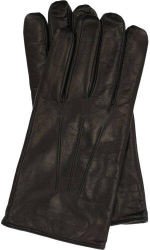 Emporio Armani Skórzane rękawiczki