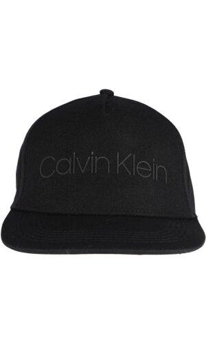 Calvin Klein Wełniana bejsbolówka Logo Patch Trucker