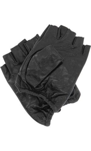 Karl Lagerfeld Skórzane rękawiczki Geo Stone