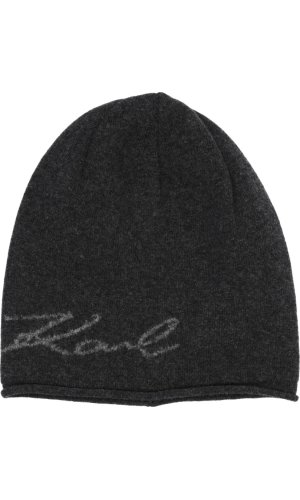 Karl Lagerfeld Wełniana czapka | z dodatkiem kaszmiru