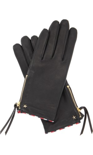 Tommy Hilfiger Skórzane rękawiczki do smartfona CORPORATE DETAIL