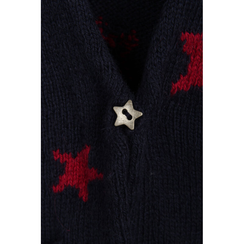 Star Cardigan Tommy Hilfiger navy blue