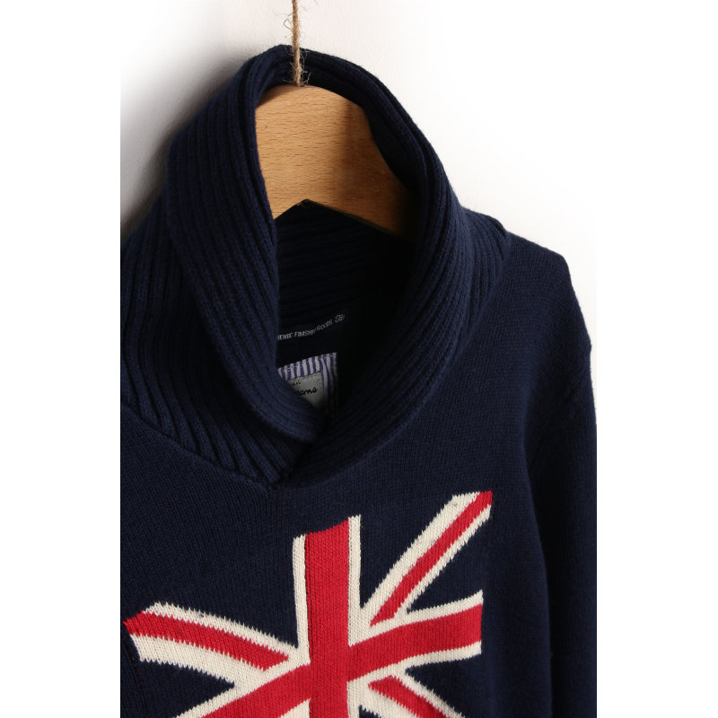 Sweter Carl Pepe Jeans London granatowy